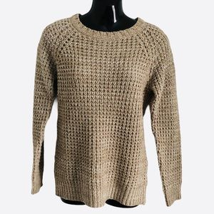 WE ❤️KNIT CLOCKHOUSE sweater ribbed caramel